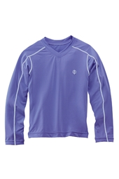 Girl's Long-Sleeve Rash Guard Swim Tee
