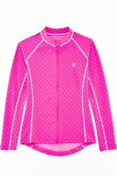 Girl's Water Jacket - Pretty Pink Polka Dot