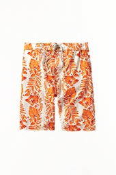Boy's Island Board Shorts - Orange Tropic