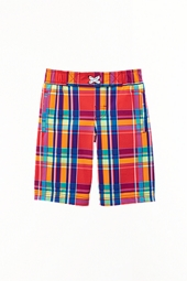 Boy's Island Swim Trunks - Summer Plaid