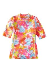 Girl's Short Sleeve Surf Shirt - Print