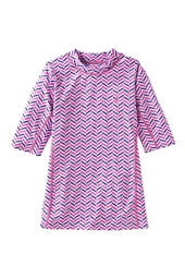 Girl's Short Sleeve Surf Shirt - Print