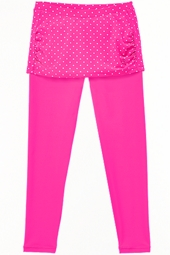 Skirted Swim Tights - Pretty Pink Polka Dot