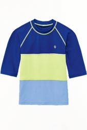 Boy's Color Block Rash Guard