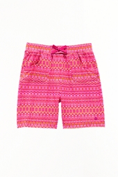 Girl's Beach Board Shorts - Tribal Pink