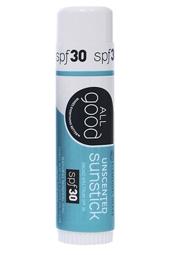 All Good SPF 30 Unscented Sunstick 0.6 oz