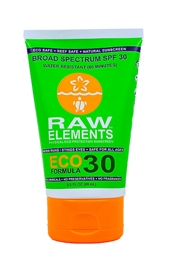 Raw Elements Eco Formula SPF 30+ Sunscreen 3 oz