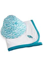 Baby Cotton Cap & Sun Blanket Set