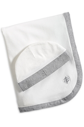 Baby Skull Cap & Sun Blanket Set