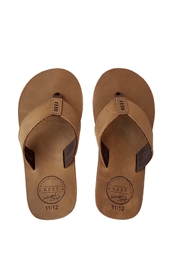 Reef Boy's Grom Leather Smoothy Sandals