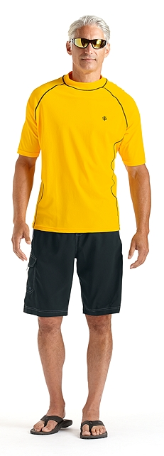 Men's Swim Shirt Outfit