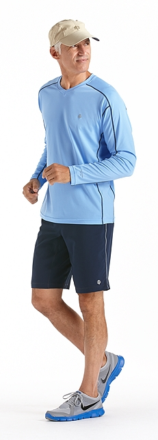Men's Fitness Shirt Long-Sleeve Outfit at Coolibar