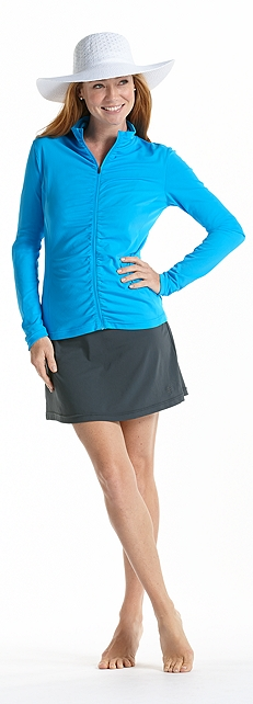 Ruched Water Jacket Outfit at Coolibar