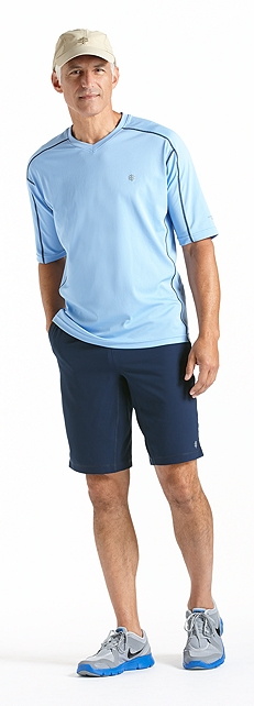 Men's Fitness Shirt Short-Sleeve Outfit at Coolibar