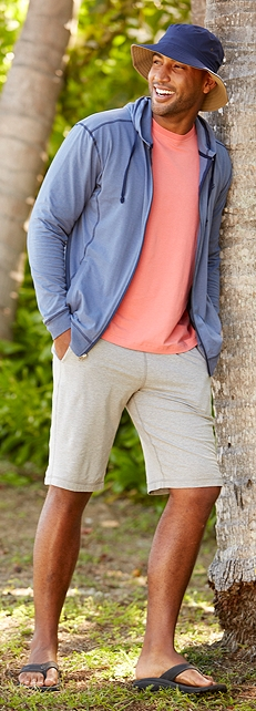 Men's ZnO Tropical Weight Jacket Outfit at Coolibar