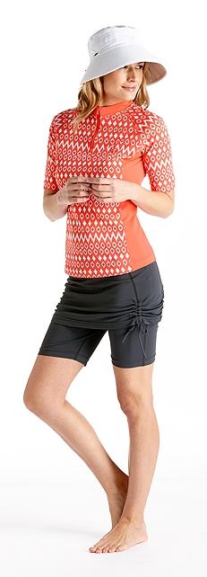 Quarter Zip Swim Shirt Outfit at Coolibar