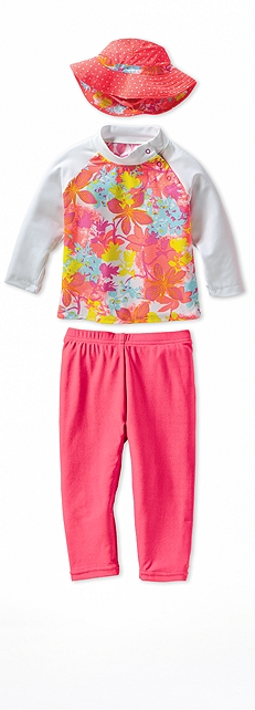 Infant Rash Guard Paradise Floral Outfit at Coolibar
