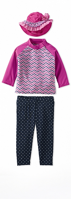 Infant Rash Guard Zig Zag Outfit at Coolibar