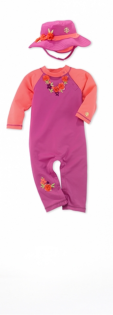Infant Beach Romper Floral Lei Outfit at Coolibar