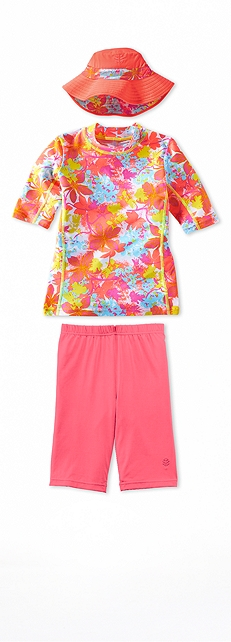 Short Sleeve Surf Shirt Paradise Floral Outfit at Coolibar