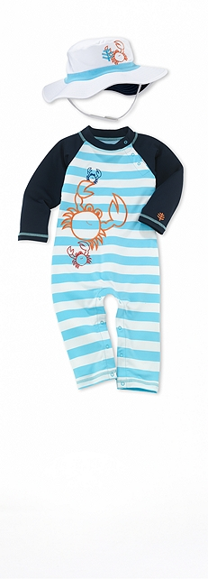 Infant Beach Romper Crab Outfit at Coolibar