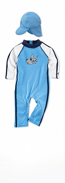 Speed Racer Infant Swim Romper Outfit at Coolibar