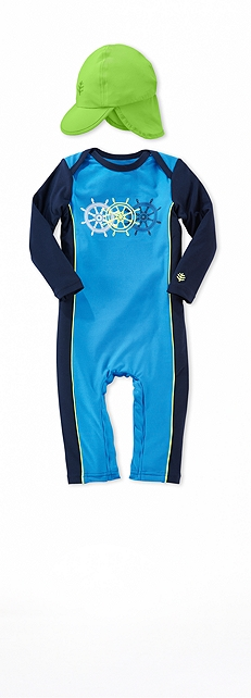 Infant Swim Romper Cancun Outfit