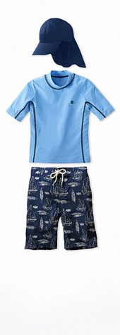Short Sleeve Surf Shirt Sky Blue Heather Outfit