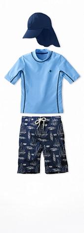 Short Sleeve Surf Shirt Sky Blue Heather Outfit