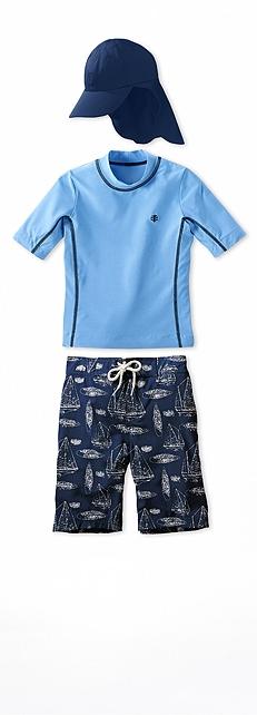Short Sleeve Surf Shirt Sky Blue Heather Outfit at Coolibar