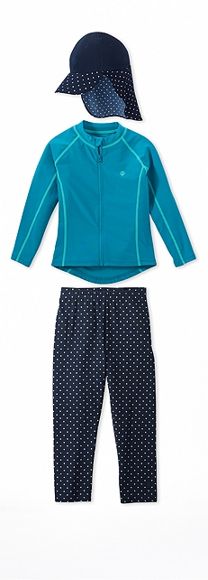 Water Jacket Canal Blue Outfit