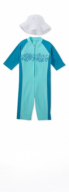 Neck to Knee Surf Suit Outfit