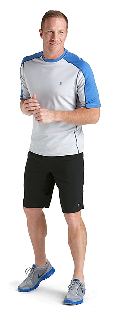 Short Sleeve Cool Fitness Crewneck Outfit at Coolibar