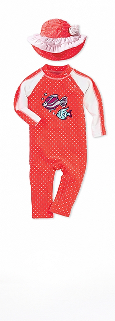 Tropical Fish Infant Splashy Romper Outfit at Coolibar