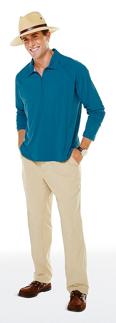 Long Sleeve Sport Polo Outfit at Coolibar