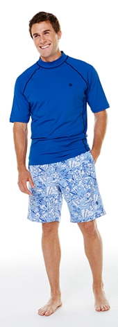 Men's Short Sleeve Swim Shirt Outfit