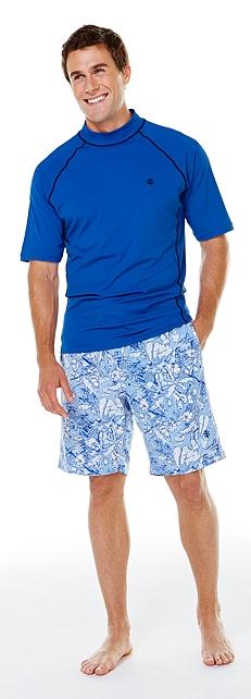 Men's Short Sleeve Swim Shirt Outfit at Coolibar