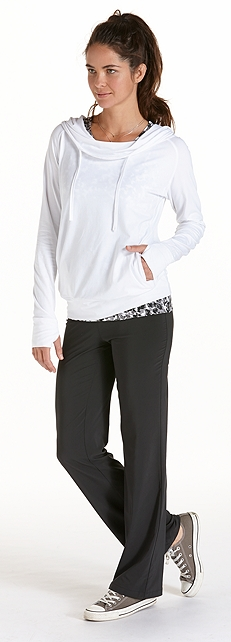 ZnO Cowl Neck Pullover Outfit at Coolibar