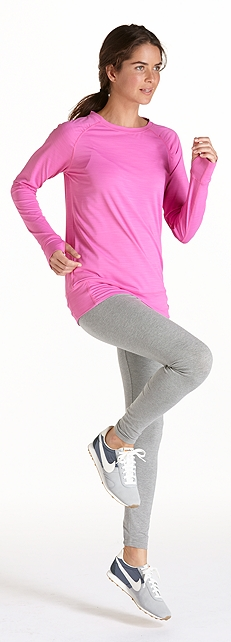 Fitness Tee & ZnO Leggings Outfit at Coolibar