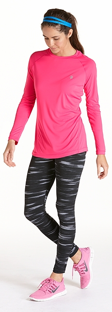 Long Sleeve Sports Tee Outfit at Coolibar