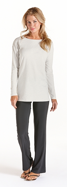 ZnO Long Sleeve Boatneck Tee Outfit at Coolibar