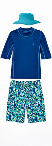 Surf Shirt & Swim Trunks Outfit