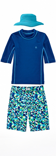 Surf Shirt & Swim Trunks Outfit at Coolibar