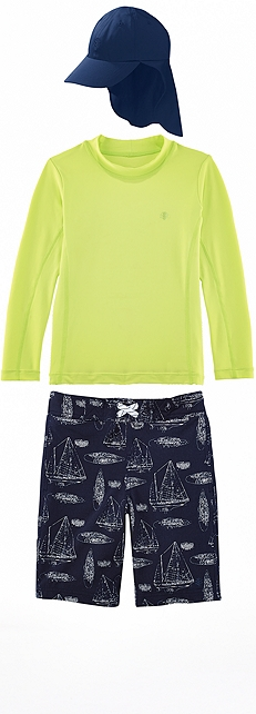 Bright Lime Surf Shirt Outfit at Coolibar
