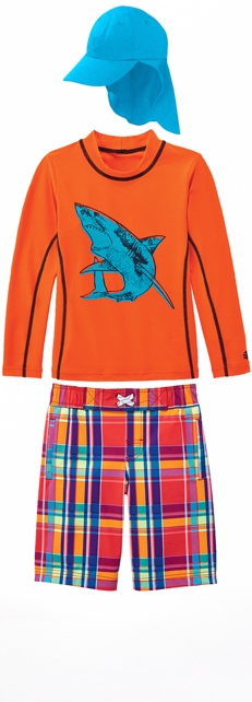 Orange Shark Surf Shirt Outfit