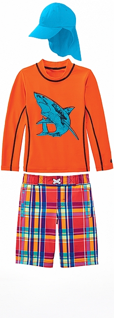 Orange Shark Surf Shirt Outfit at Coolibar