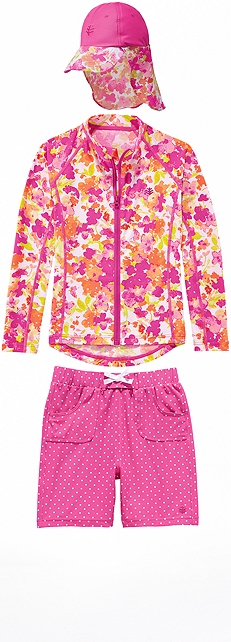 Water Jacket & Beach Board Shorts Outfit at Coolibar