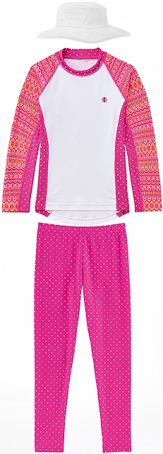 Tribal Pink Rash Guard Outfit