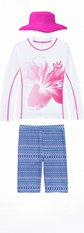 Pink Flower Surf Shirt Outfit