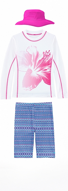 Pink Flower Surf Shirt Outfit at Coolibar